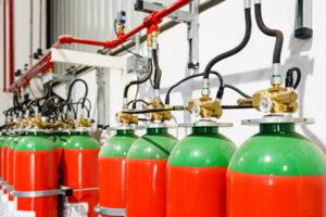 gas-based fire extinguishing system
